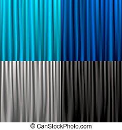 cortinas, seda, cobrança