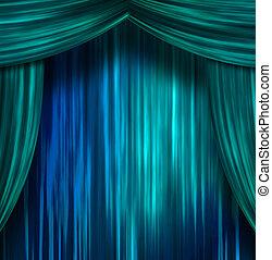 cortinas, teatro
