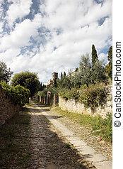 Cortona medieval Tusdcan town - church of Santa Margherita ...