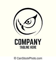 coruja, modernos, logotipo