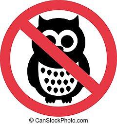 corujas, proibidas
