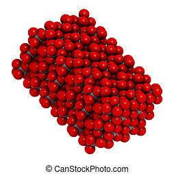 Corundum (Aluminium oxide), crystal structure. Ruby gems...