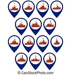corvettes, insignias, fragatas
