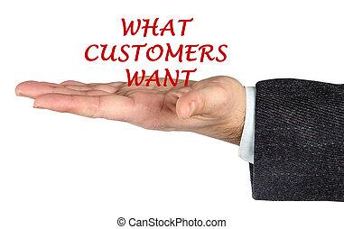 cosa, consumatori, volere