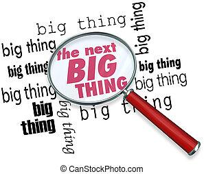 cosa, grande, buscando, luego, vidrio, palabras, aumentar