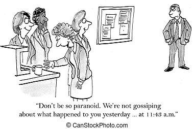 cosa, we're, gossiping, lei, marche, pensare