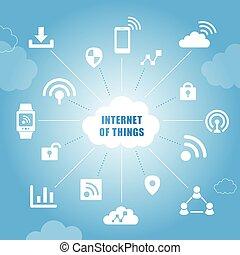 cosas, concepto, internet