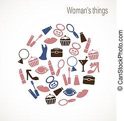 cosas, mujer