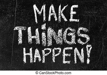 cose, fare, happen, lavagna