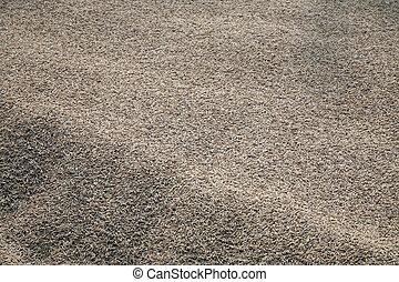 cosechado, arroz, ser, dried.
