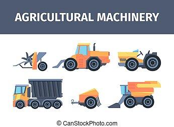cosechar, cortacéspedes, style., mecanismos, grano, mecánico...