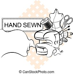 cosendo, elétrico, símbolo, máquina, corte