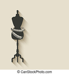 cosendo, mannequin, fundo