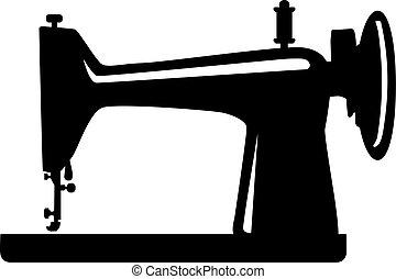 cosendo, tradicional, máquina