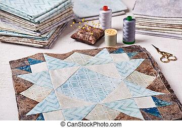 coser, colcha, bloques, telas, costura, accesorios, ...