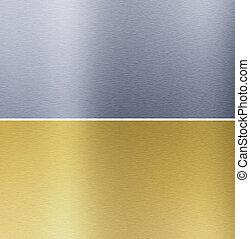 cosido, texturas, latón, aluminio
