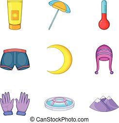 Cosiness icons set, cartoon style - Cosiness icons set....