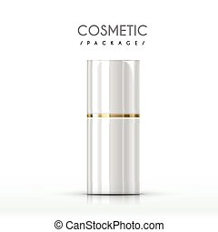 cosmético, lustroso, pacote