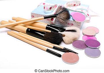 cosméticos, cima, Conjunto, vista