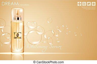 cosmétique, conditionnement, crème peau, sérum, soin