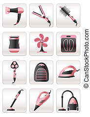 Cosmetic and heating appliances