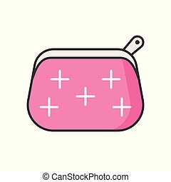 Cosmetic bag, filled outline icon