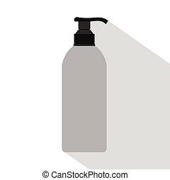 Cosmetic bottle icon, flat style
