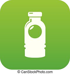Cosmetic bottle icon green vector