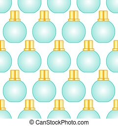Cosmetic bottle pattern - Seamless pattern of the small...
