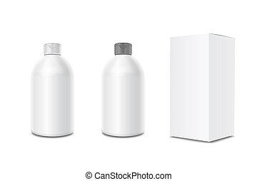 Cosmetic bottles for body cream, shampoo, moisturizing lotion