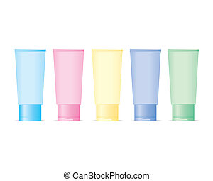 Cosmetic bottles set Vector - The abstract of Cosmetic...