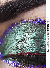 Cosmetic brocade, shiny cosmetic in vibrant colors