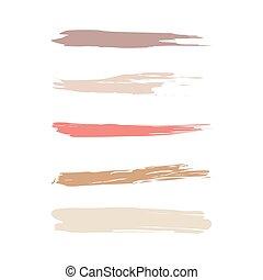 Cosmetic brush icons set