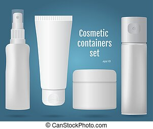 Cosmetic containers set