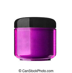 cosmetic cream in container