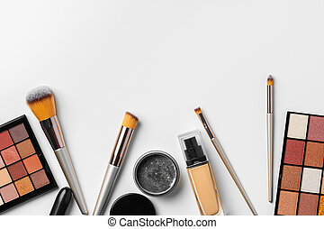 Cosmetic isolated on a white background. Close up.