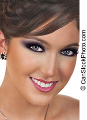 Young woman with beautiful make up