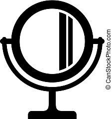 Cosmetic mirror icon