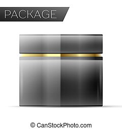 Cosmetic package for Cream on white background. Vector ...