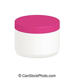 Cosmetic packaging, cream, powder or gel jar with cap,...