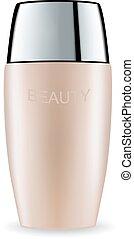 Cosmetic packaging plastic tube. Vector.