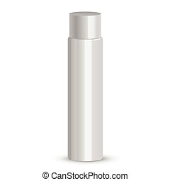Cosmetic packaging, plastic tube. Vector.