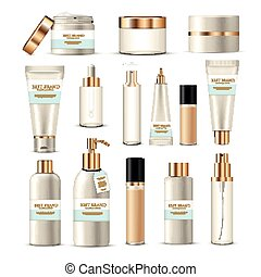 Cosmetic Packaging Tubes Set - Cosmetic package collection...