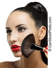 cosmetic., perfect, base, make-up