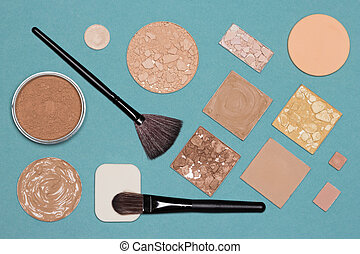 Cosmetic products and accessories for corrective makeup