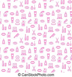 Cosmetic seamless pattern. Background for design.