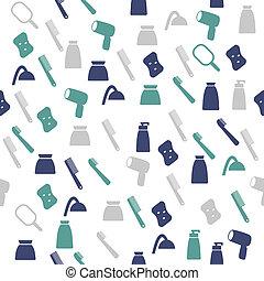 Cosmetic seamless pattern