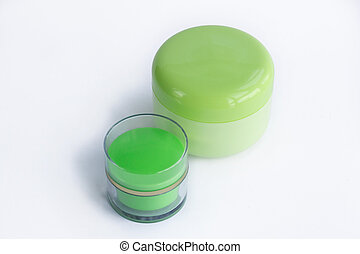 Cosmetic set of 2 cream bottles
