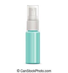 cosmetic spray bottle isolated on white background