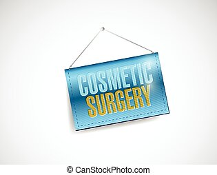 cosmetic surgery hanging banner illustration design over a...